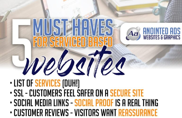 5 must haves for service based websites