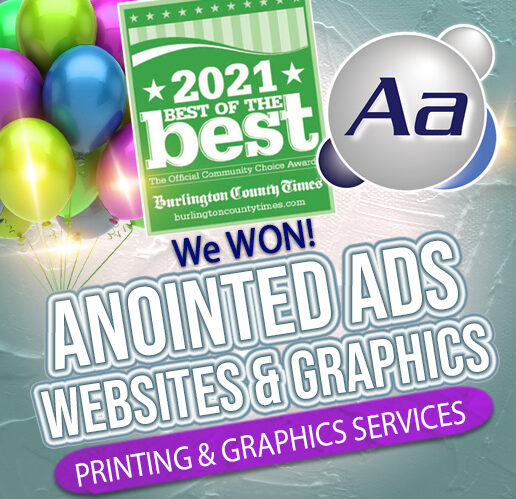 Anointed Ads Wins Best of the Best of Burlington County Award